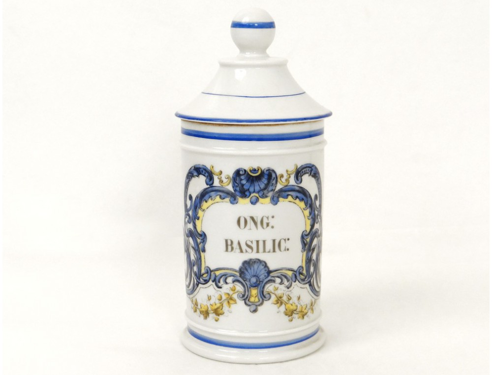 Pot 224 Pharmacie Porcelaine De Paris Fontemoing Amp Peigney