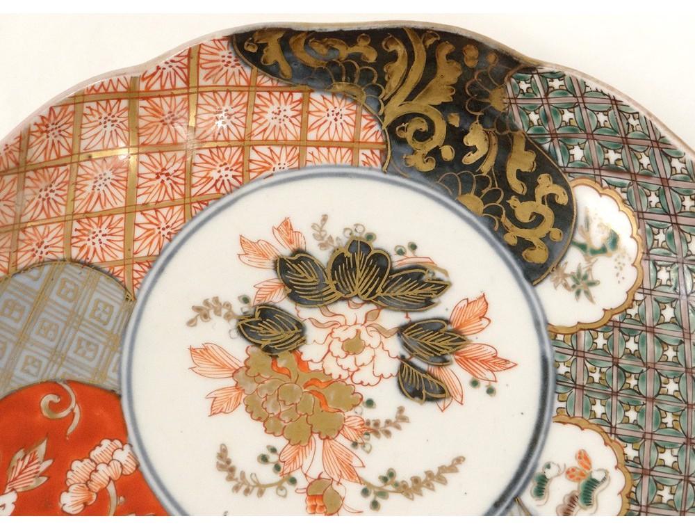 Assiette Porcelaine Imari Japon Fleurs Chrysanth 232 Me Dorure Xix 232 Me Si 232 Cle