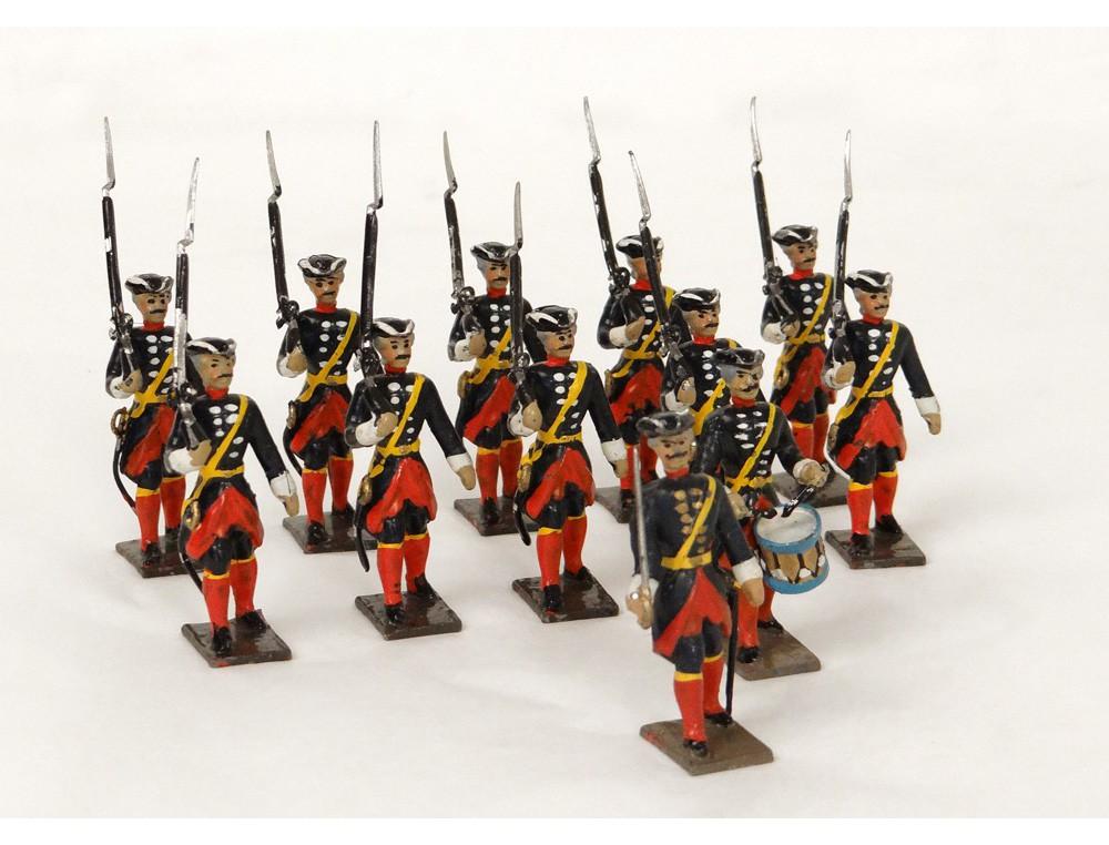 Lot 12 soldats plomb polychrome Gardes Républicains ...