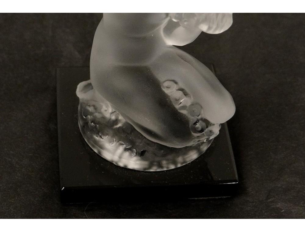 Statuette Presse Papier Cristal Femme Nue Flor 233 Al Lalique