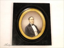 Miniature portrait of an aristocrat by Louis 19th Sterrer