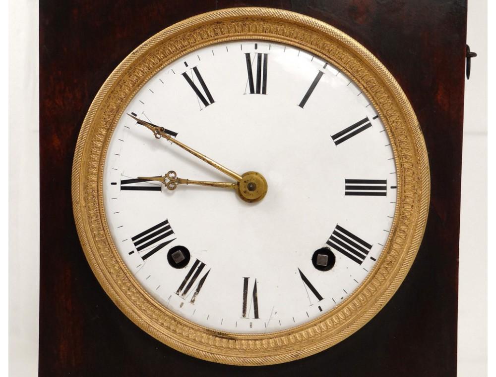 Pendule Borne Acajou Bronze Dor 233 Horloger Fortin Paris