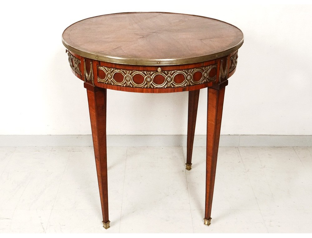 drum table louis xvi inlaid rosewood bronze gilt brass xix. Black Bedroom Furniture Sets. Home Design Ideas