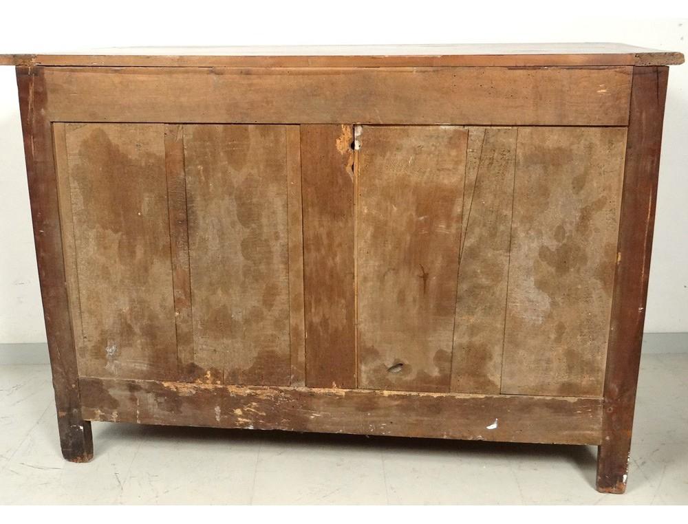 superbe buffet louis xv rustique noyer sculpt fer forg xix me si cle antiques de laval. Black Bedroom Furniture Sets. Home Design Ideas