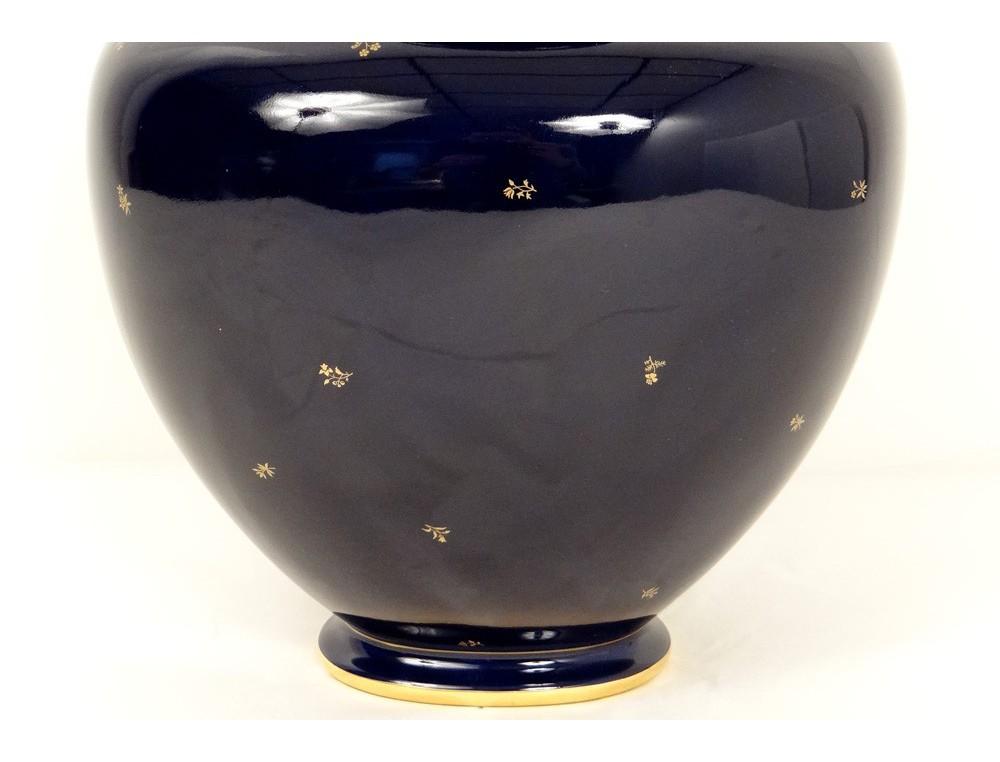 Vase Porcelaine De S 232 Vres Mod 232 Le Decoeur Bleu Fleurs