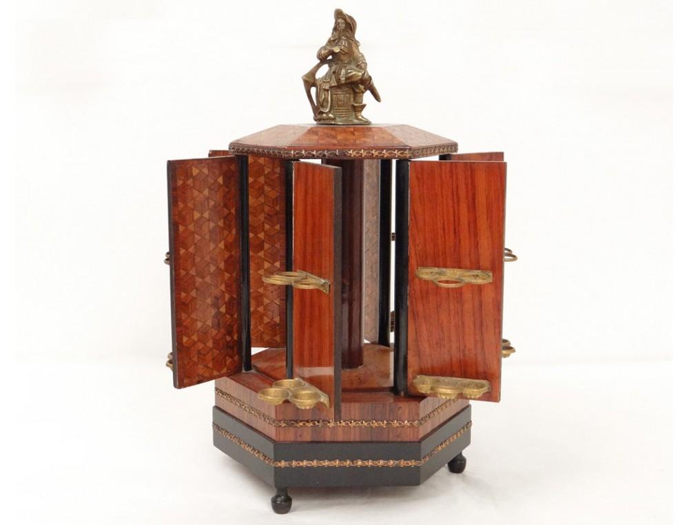 cave cigares musique bois rose marqueterie cubes mousquetaire napiii xix. Black Bedroom Furniture Sets. Home Design Ideas