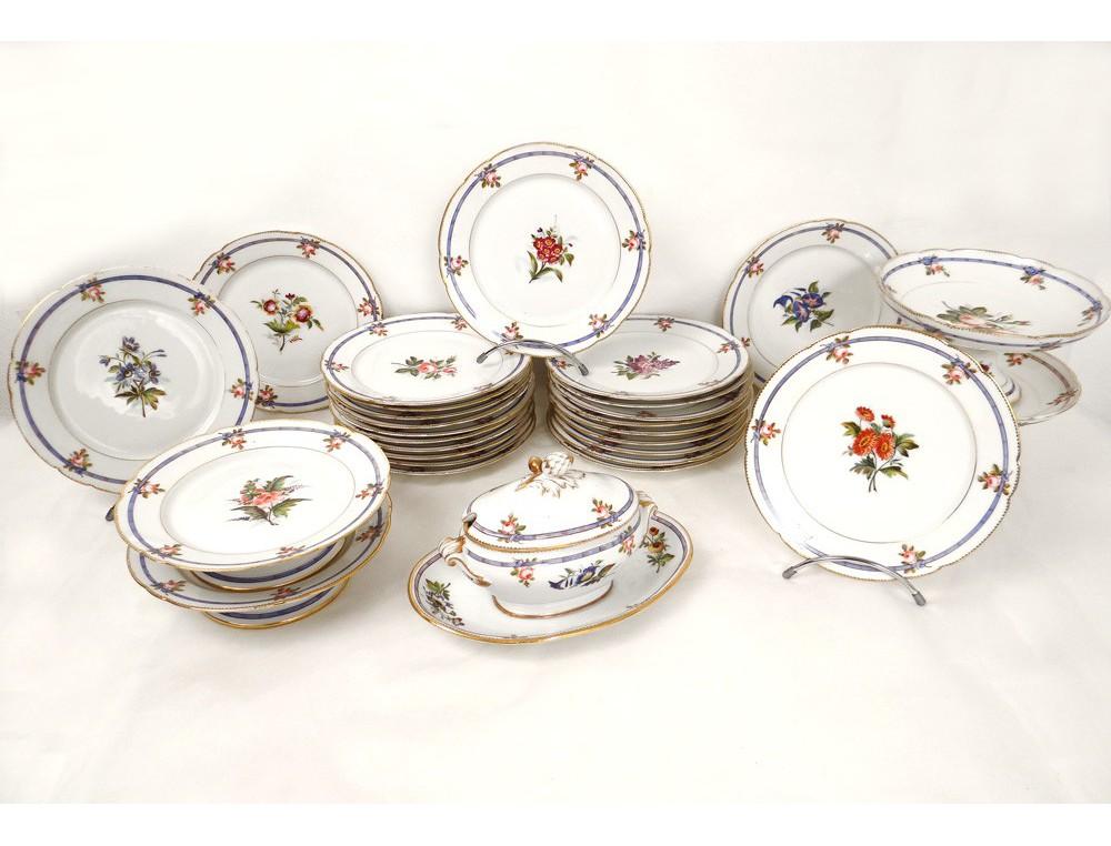 service vaisselle 29 pi ces porcelaine paris assiettes. Black Bedroom Furniture Sets. Home Design Ideas