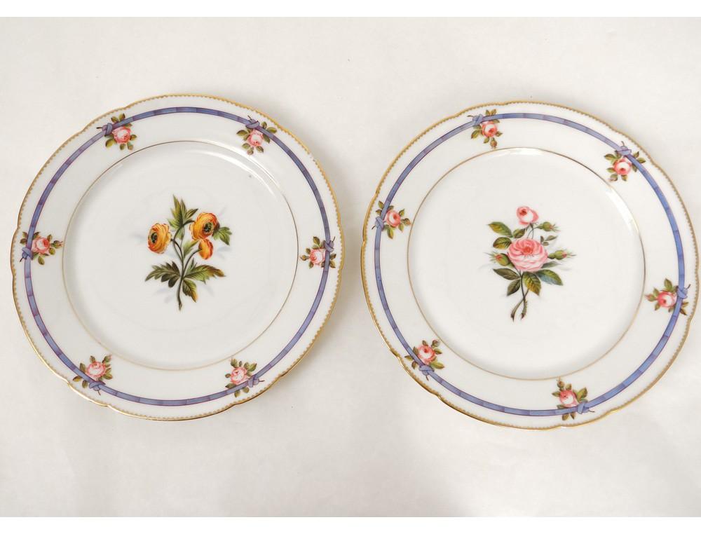 dinnerware 29 pieces of porcelain plates 19th paris. Black Bedroom Furniture Sets. Home Design Ideas