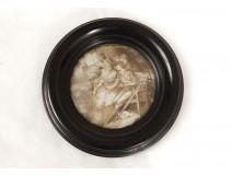 Miniature peinte portrait femmes élegantes Belle Epoque painting XIXème