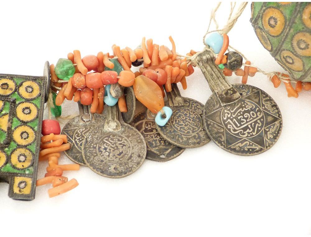 Bijou Berb 232 Re Amazigh Parure Corail Ambre Perles 233 Maux