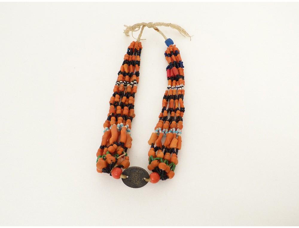 bijou berb re amazigh collier perles corail maroc ethnique. Black Bedroom Furniture Sets. Home Design Ideas
