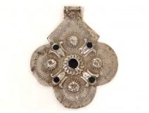 Talisman pendant silver Foulet Khamsa Fez Fez Morocco Fatma Maghreb twentieth