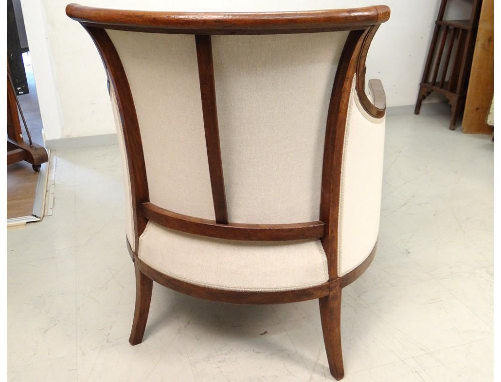 Superbe duchesse en bateau chaise longue merisier for Chaise 19eme siecle