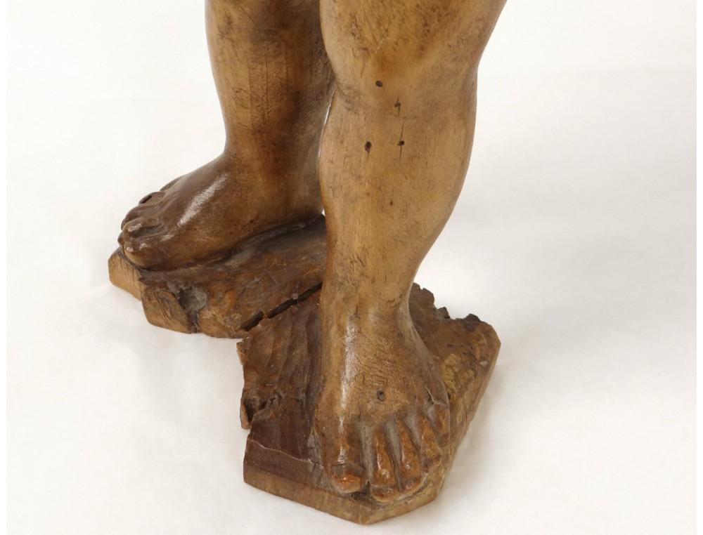 Statue Sculpture Bois Sculpt 233 Enfant J 233 Sus 233 Glise Xviii 232 Me