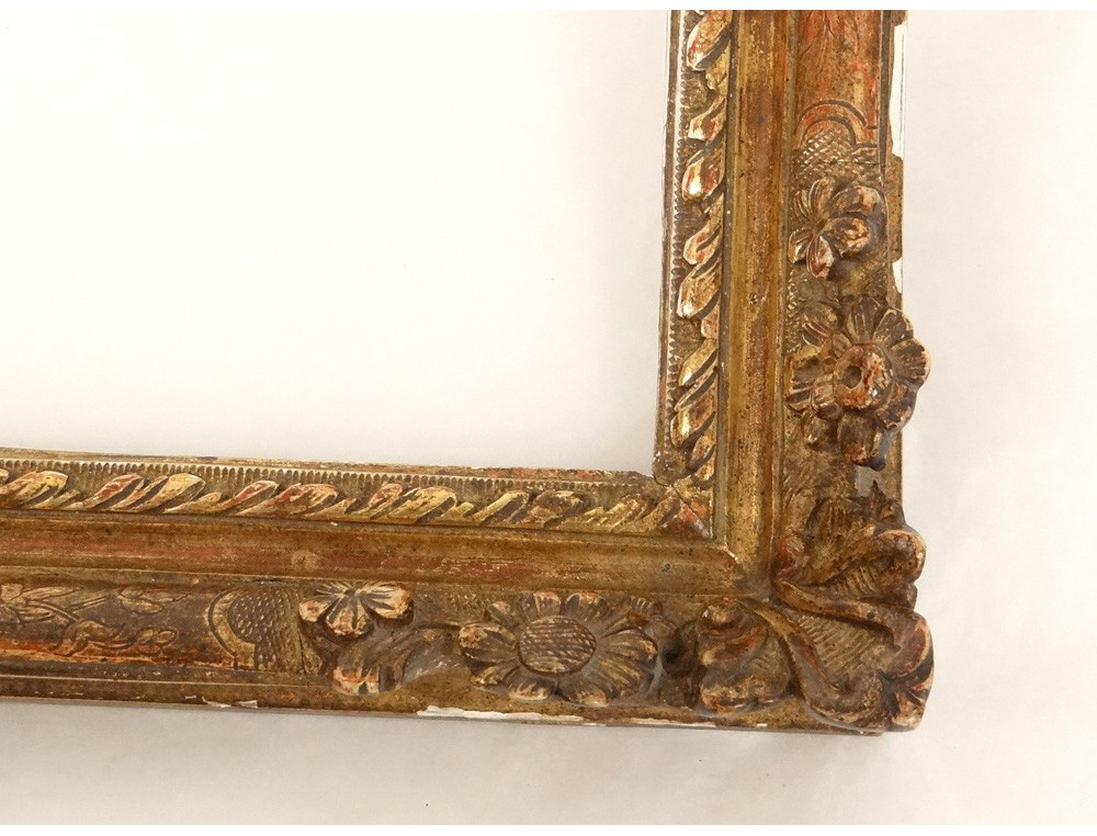 Small Carved Gilt Frame Flowers Frame Antique Regency