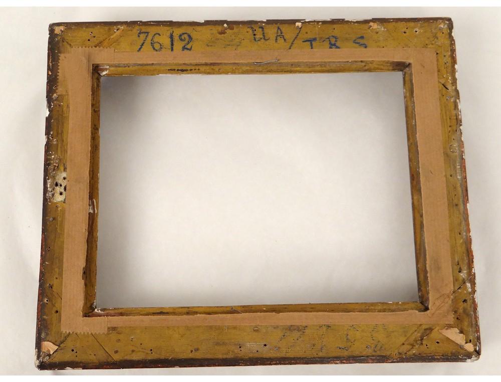 petit cadre bois sculpt dor fleurs r gence antique frame. Black Bedroom Furniture Sets. Home Design Ideas