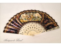 Fan ivory and gold, nineteenth century