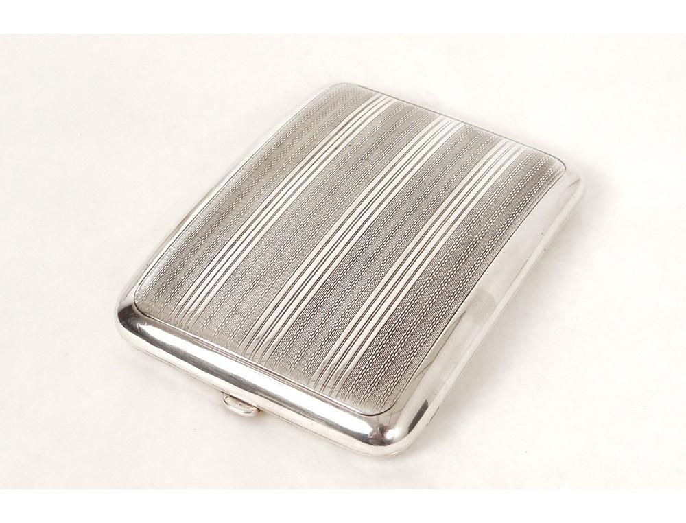 etui cigarettes argent massif minerve sterling silver box xx me si cle. Black Bedroom Furniture Sets. Home Design Ideas