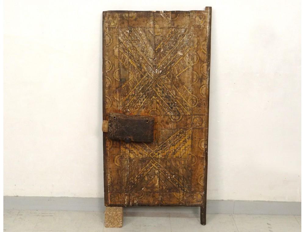 Moroccan Carved Wooden Attic Door Morocco Sahara Africa