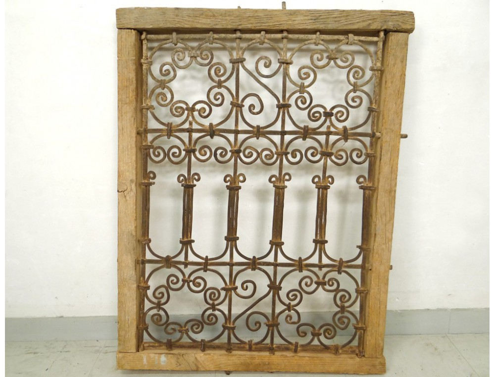 Moroccan iron window grill wrought morocco maghreb atlas for Fer forge fenetre
