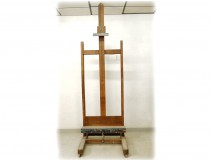 Large wooden easel painter french antique table easel twentieth century