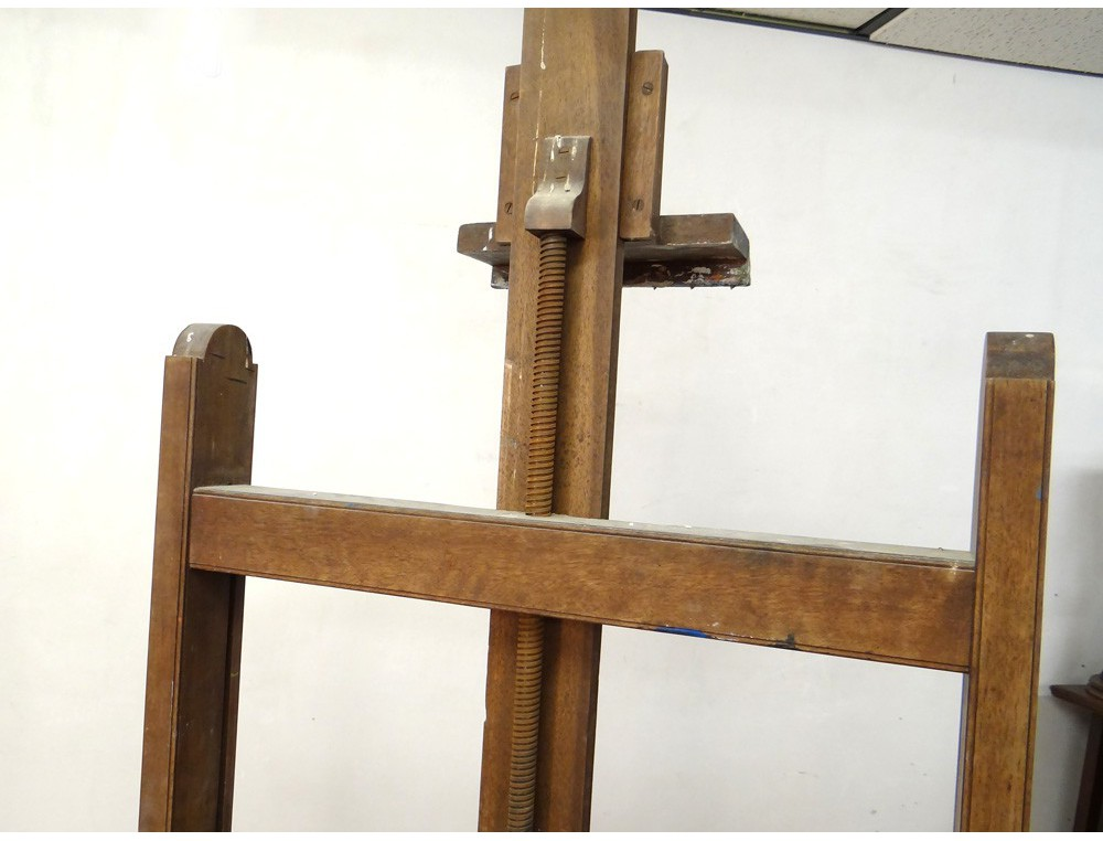 Rare Great Painter Wooden Easel Easel Painting Workshop