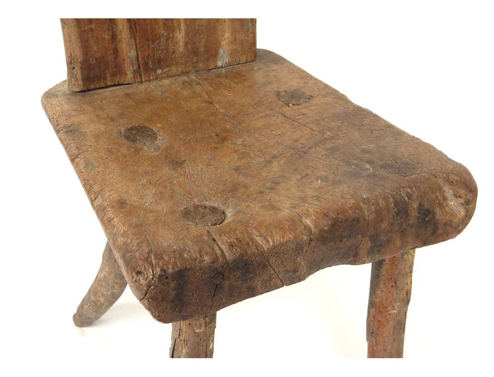 Old Wooden Stool ~ Rustic wooden stool french antique art popular