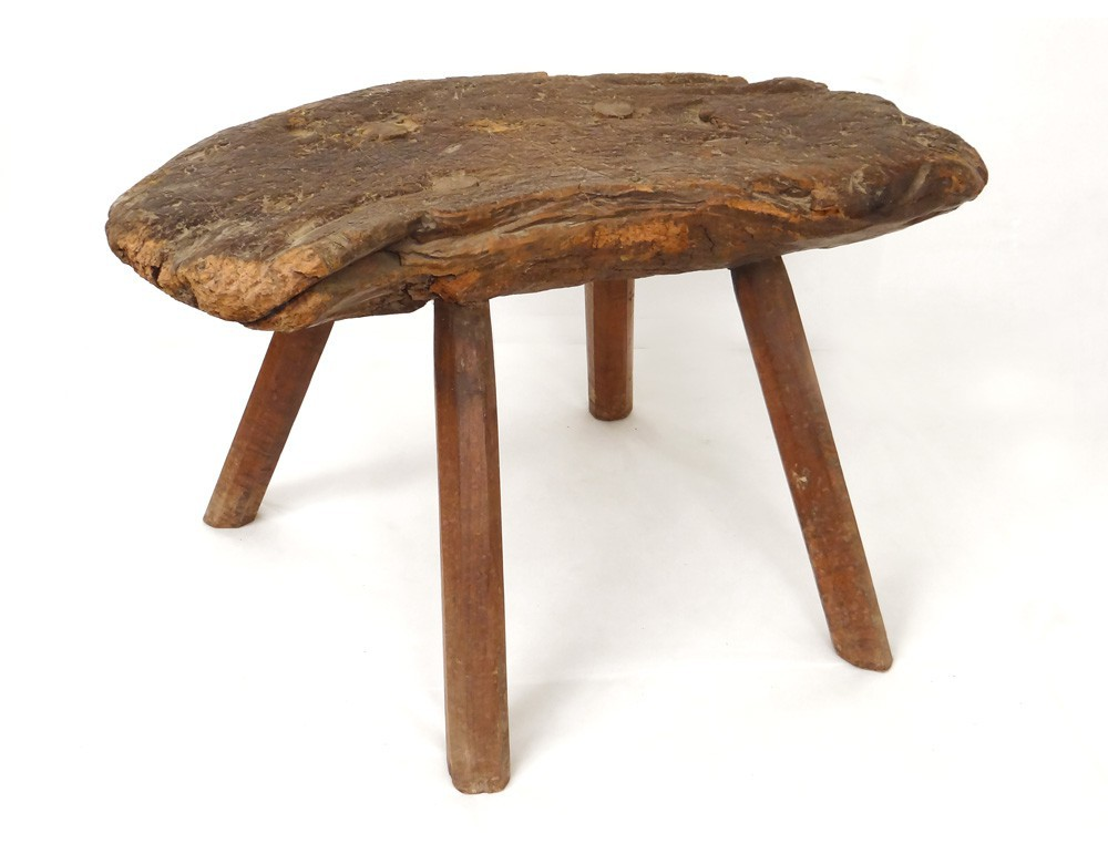 Rustic Wooden Stool Stool French Antique Art Popular