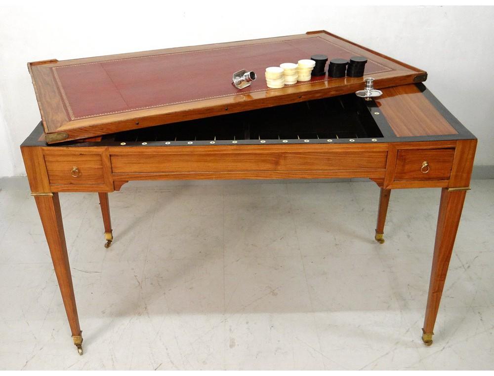 louis xvi table game backgammon backgammon chips satin g. Black Bedroom Furniture Sets. Home Design Ideas