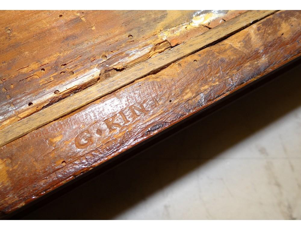 Table à jeu Louis XVI tric trac bois rose GKintz jetons  ~ Jeu De Jacquet En Bois
