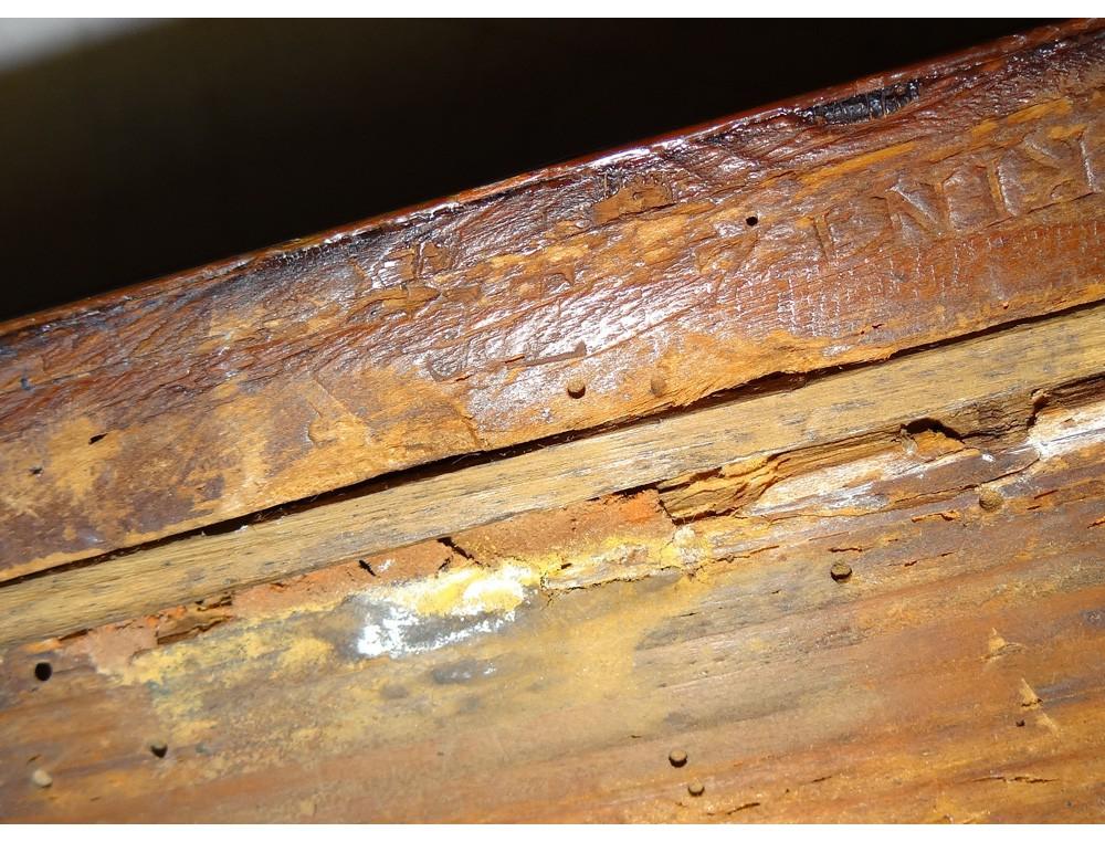Table à jeu Louis XVI tric trac bois rose GKintz jetons