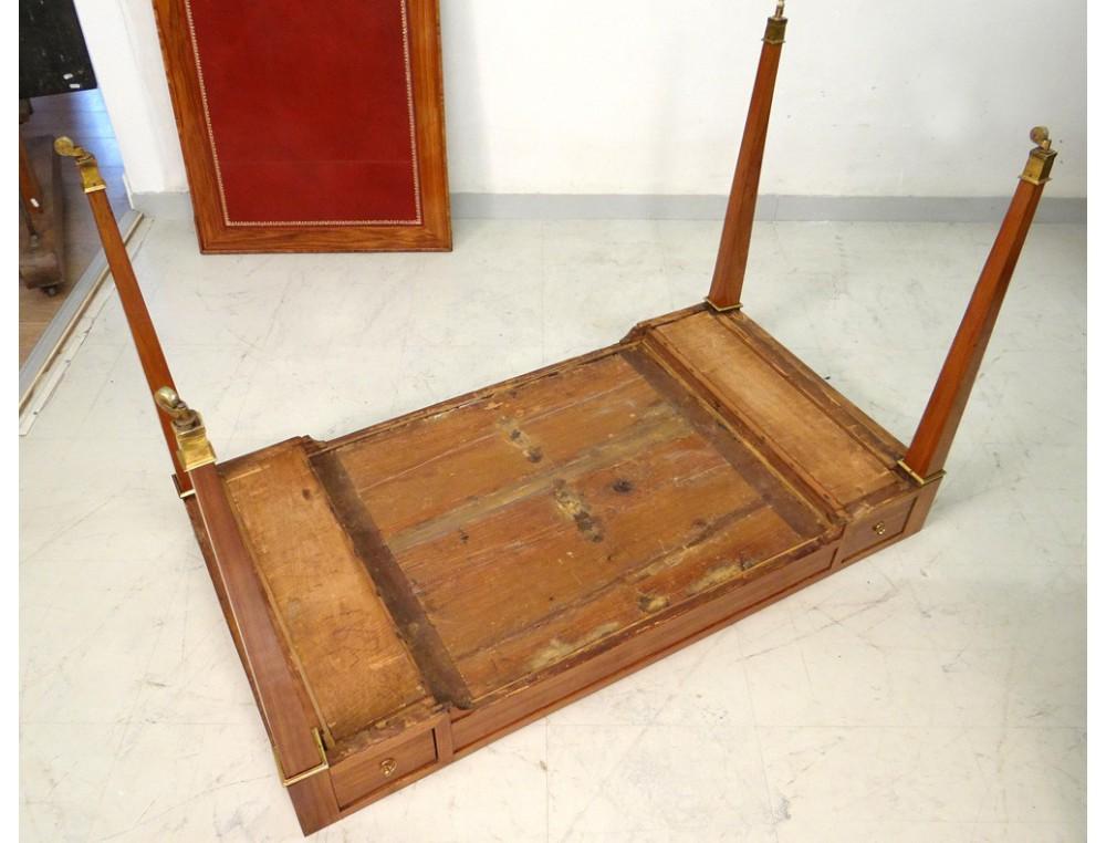 Table à jeu Louis XVI tric trac bois rose GKintz jetons jacquet XVIIIème  A