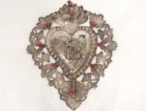 Heart devotional heart marie massive silver rhinestone monogram cherubs nineteenth