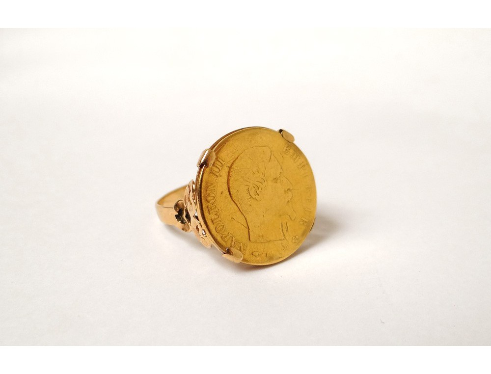 Bague Or Massif 18 Carats Pi 232 Ce Or Empereur Napol 233 On Iii