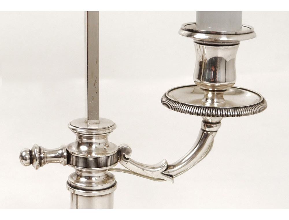 lampe bouillotte bronze argent t le bougeoir antique. Black Bedroom Furniture Sets. Home Design Ideas