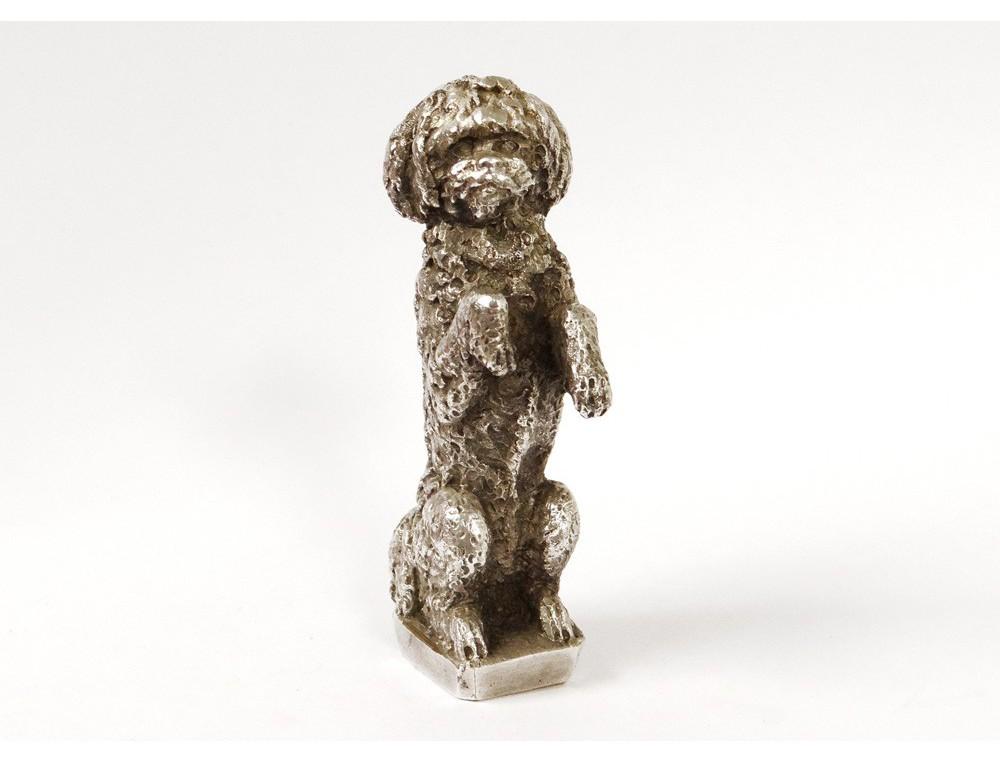 sceau cachet bronze argent chien monogramme antique french seal xix me antiques de laval. Black Bedroom Furniture Sets. Home Design Ideas