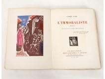 Livre L'Immoraliste André Gide Paris Henri Jonquières 1925 Van Leyden