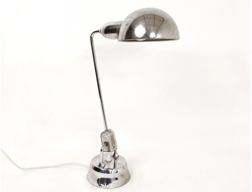 Lampe de bureau design jumo chrome french lamp xxème siècle
