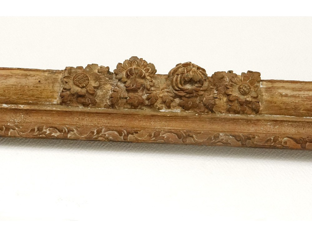 Exceptionnel grand cadre bois sculpté doré fleur antique french frame XVII u00e8 # Cadre Bois Sculpté