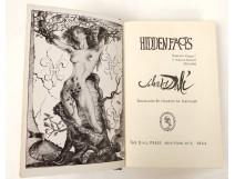 Rare book Hidden Faces Salvador Dalí in New York in 1944 dedicated Van Leyden