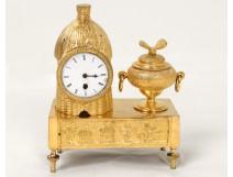 Clock gilded bronze beehive bee Duprey Paris clock Directory eighteenth
