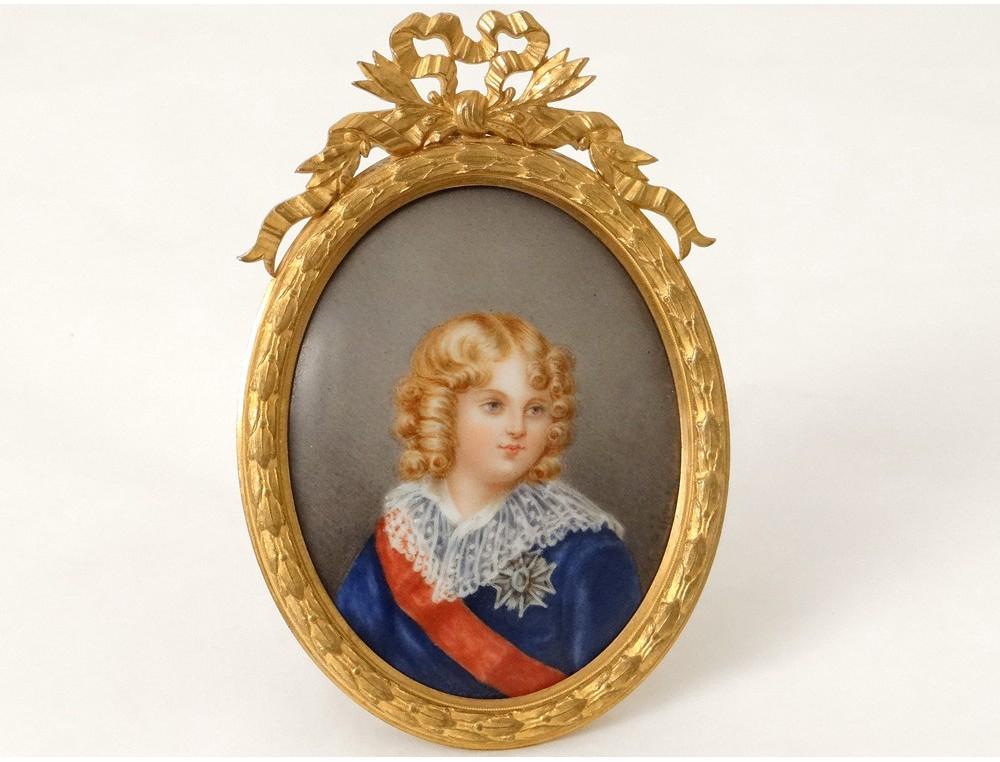 Miniature Porcelaine Portrait Roi De Rome Napol 233 On Ii