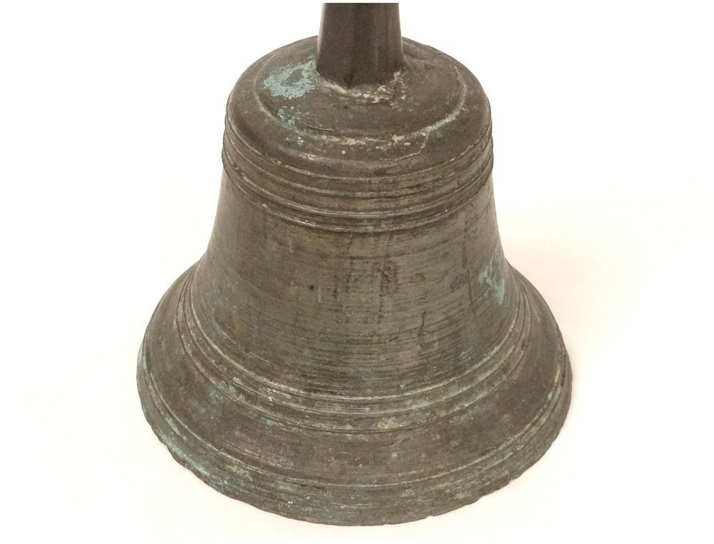 Cloche De Messe Airain Bronze Antique French Bell Xvii 232 Me