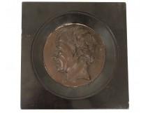 Sculpture bas-relief plaster portrait profile painter JL. David 19th century