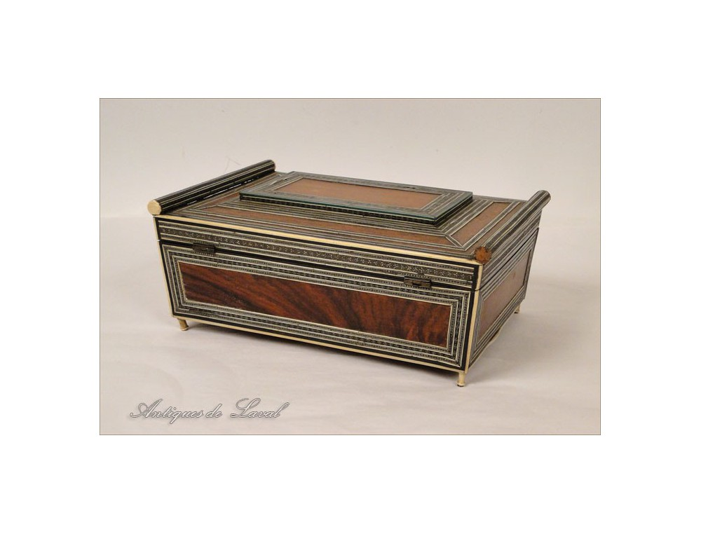 Sewing Kit Box Inlaid With Ivory Napoleon Iii 19th