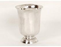 Timbale piedouche argent massif Vieillard sterling silver cup 67gr XIXème