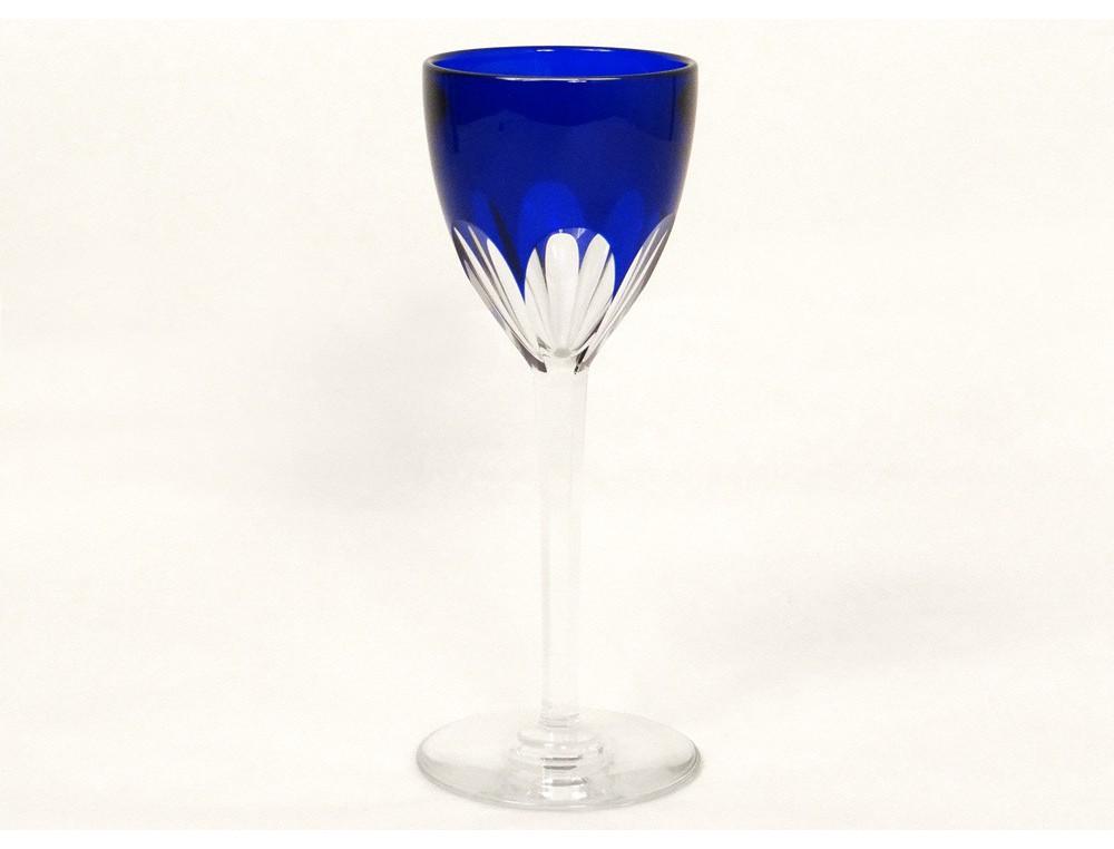 Crystal Rhine Wine Glass Carved Baccarat France Genova