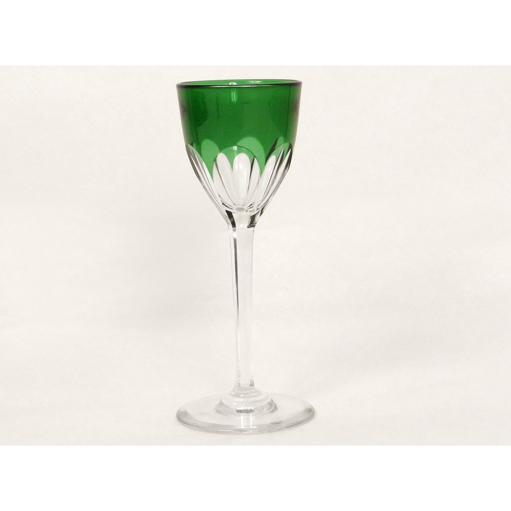 verre vin du rhin cristal taill baccarat france genova vert meraude xx. Black Bedroom Furniture Sets. Home Design Ideas