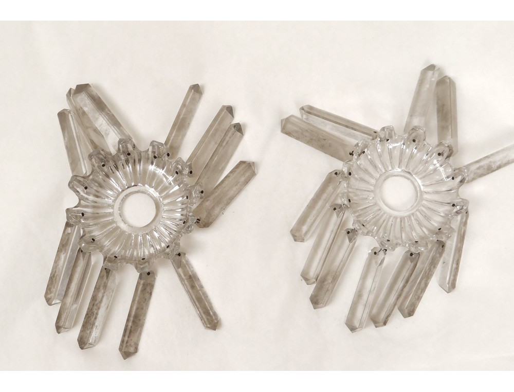 Candle Sconces Pair Baccarat Crystal Chandelier France
