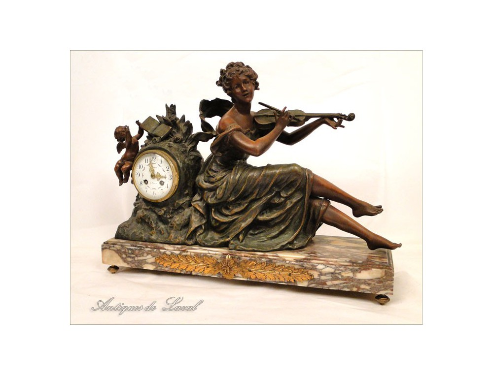 Pendulum Geo Maxim Woman With Violin 19th